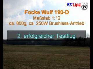 FW 190d in 1:12 - 2. Testflug