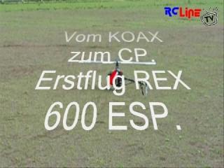 T REX 600 ESP Erstflug