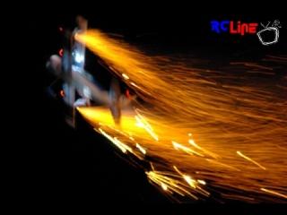 Nachtflug mit Graupner Pitts S12 (Depron Gro�modell)