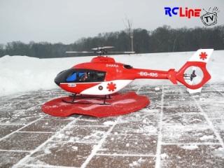 EC135 im Schnee