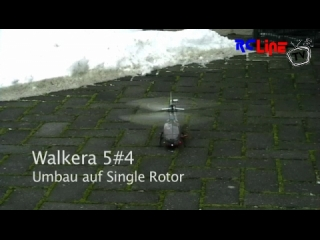 Walkera 5#4 Single Rotor Schneeflug