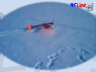 Erster Flug mit Ski