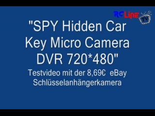 Testvideo: 8,69 Euro *SPY Hidden Car Key Micro Camera DVR 720*480*