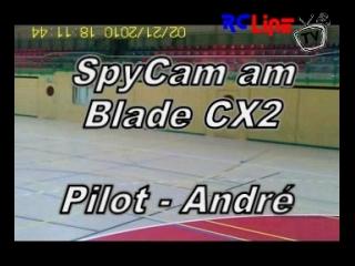 Hallenvideo vom Blade CX2 als Kameramann
