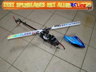Test Spinblades mit Align 450PRO und Skorpion 2221-8