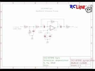 EK2-0704B Gyro Gyroplatine Schaltplan Prinzip