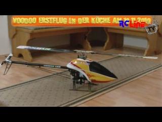 Voodoo Erstflug in der K�che mit Crash nach Piruette