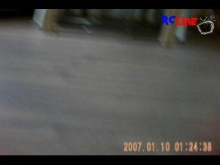 Trex 450  mit Flycam im Wohnzimmer