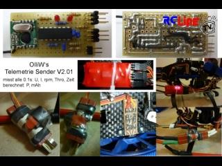 OlliW's Telemetrie Sender und Messwertaufnehmer