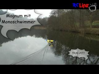 AFTER >: Magnum mit Monoschwimmer