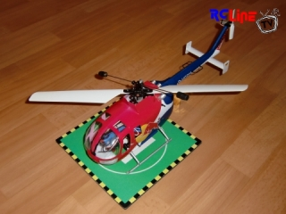 Bo 105 Red Bull Umbau auf Single Rotor Kestrel Mechanik
