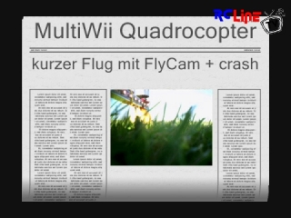 Kurze Flug mit MultiWii Quadrocopter + crash
