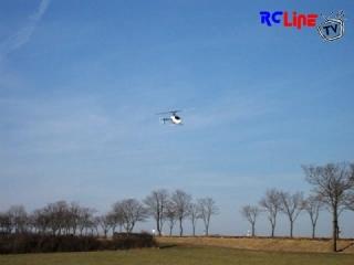 Erstflug 600er T-Rex - Landung