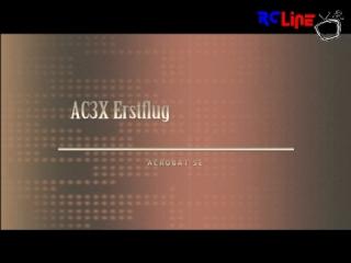 Acrobat SE - Erstflug AC3X